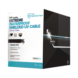 [PRO-CAT5-EXT-LITE-M] PRO-CAT5-EXT-LITE 1M, Cat5e, color negro, sin blindar,  para aplicaciones de CCTV, redes de datos. Uso en intemperie